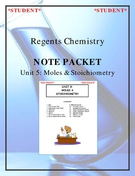 Chemistry Note Packet - Unit 5: Moles & Stoichiometry