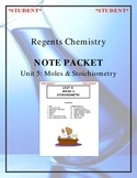 NGSS Regents Chemistry Note Packet - Unit 5: Moles & Stoichiometry