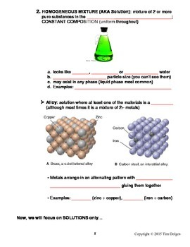 Chemistry Note Packet - Unit 7: Solutions