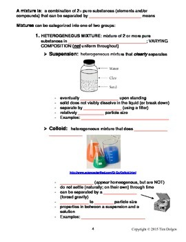NGSS Regents Chemistry Note Packet - Unit 7: Solutions