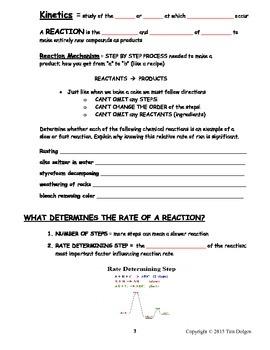 NGSS Regents Chemistry Note Packet - Unit 8: Kinetics & Equilibrium
