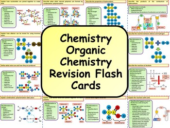 Chemistry: Organic Chemistry Revision Flash Cards Instructions | TpT