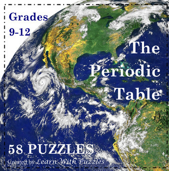 Chemistry - Periodic Table of Elements - 58 UNIQUE Periodic Table Puzzle Bundle