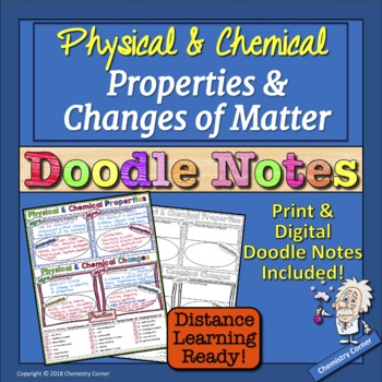 Chemistry: Physical & Chemical Properties and Changes of Matter Doodle Notes