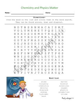 Chemistry & Physics Word Search