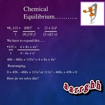 Chemistry PowerPoint: Chemical Equilibrium - Kc, Kp, Ksp