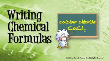 Chemistry PowerPoint, Notes and Quiz: Writing Chemical Formulas