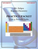 NGSS Regents Chemistry Practice Packet - Unit 3: Periodic Table