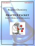 NGSS Regents Chemistry Practice Packet - Unit 5: Moles & S