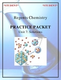 NGSS Regents Chemistry Practice Packet - Unit 7: Solutions