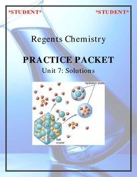 Chemistry Practice Packet - Unit 7: Solutions
