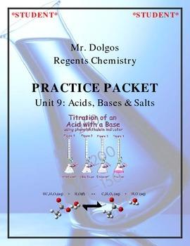 Chemistry Practice Packet - Unit 9: Acids, Bases & Salts