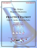 NGSS Regents Chemistry Practice Packet - Unit 9: Acids, Bases & Salts