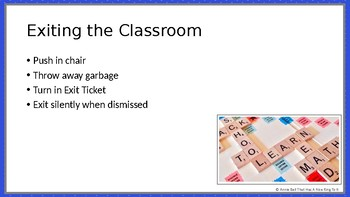 First Week - Classroom Procedures & Routines