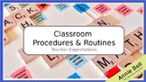 First Week - Classroom Procedures & Routines