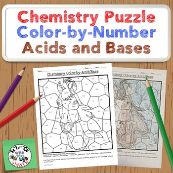 Chemistry Puzzle: Color by Acids/Bases: Weak and Strong Acid / Base