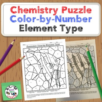 Chemistry Puzzle: Color by Element Type - Metal, Nonmetal, Metalloid