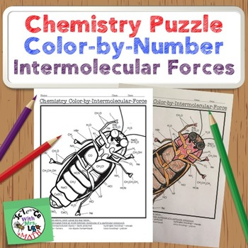 Chemistry Puzzle Color by Number Intermolecular Forces