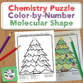 Chemistry Puzzle Color by Number Molecular Geometry