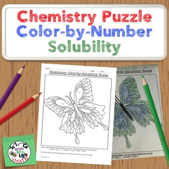 Chemistry Puzzle: Color by Solubility Rules Fun Activity