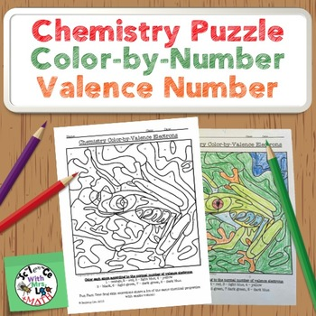 Chemistry Puzzle: Color by Valence Electron Number