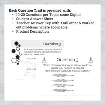 Chemistry Question Trails BUNDLE