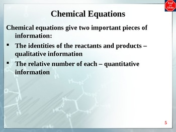 Chemistry - Reactions PowerPoint
