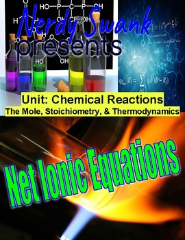 Chemistry Reactions Unit - Net Ionic Equations - Balance Molecular Formulas