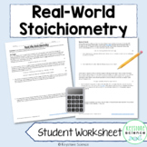 Chemistry Real Life Stoichiometry Problems with KEY