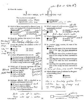 Chemistry Regents Explanation (June 2004)