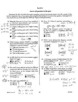 Chemistry Regents Explanations (January 2007)