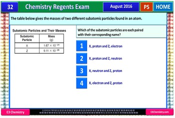Chemistry Regents PowerPoint Spectacular - August 2016 Physical Setting Exam