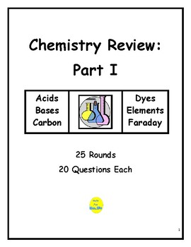 Chemistry Review Part I