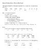 Chemistry Review Practice Worksheet or Assessment
