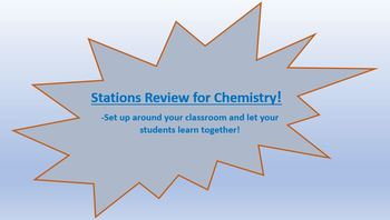 Chemistry Review Stations
