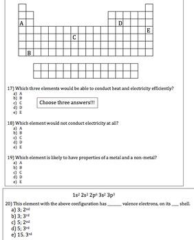 Chemistry Review Worksheet