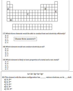 Chemistry Review Worksheet by Active and Engaging Science | TpT