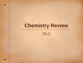 Chemistry Review for Biology