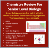Chemistry Review for Senior Biology Courses