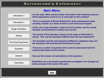 Chemistry - Rutherford's Experiment - PC Version