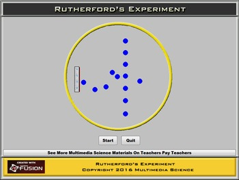 Chemistry - Rutherford's Experiment - PC & MAC Flash Version