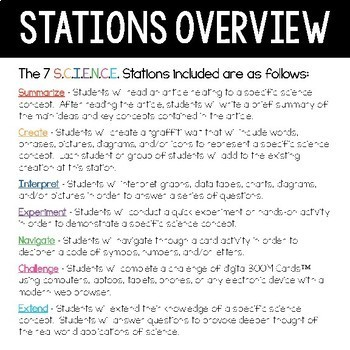 Chemistry S.C.I.E.N.C.E. Stations Bundle