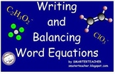 Chemistry SMART Notebook Writing Word Equations