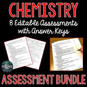 Chemistry Science Assessments Bundle