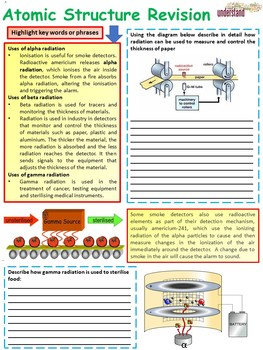 Chemistry (Science) Atomic Structure & Periodic Table Revision Workbook