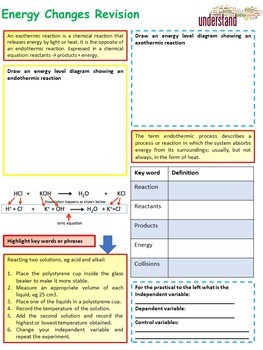 Chemistry (Science) Energy Changes Revision Workbook