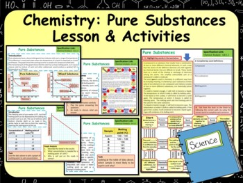 Chemistry (Science) Pure Substances Lesson & Activities | TpT