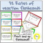 32 Rates of chemical reactions - FLASHCARDS (CHEMISTRY/SCIENCE)