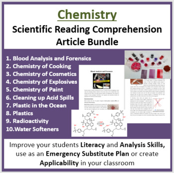 Chemistry Science Reading Article Bundle - Grade 8 and Up by