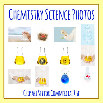 Chemistry / Science Testing Photos Clip Art Set for Commercial Use